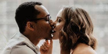couple kissing sweetly