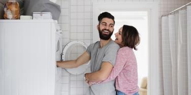 couple doing the laundry