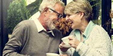 happy older couple in good marriage