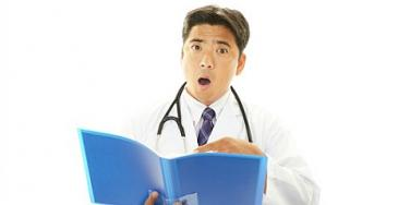 doctor looking surprised