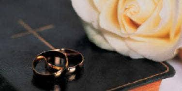 bible wedding bands rose