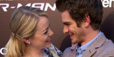 Emma Stone and Andrew Garfield of 'The Amazing Superman'