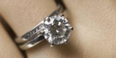 Engaged wedding ring