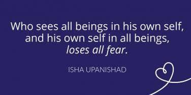 Isha Upanishad fear quote
