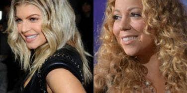 Fergie and Mariah Carey