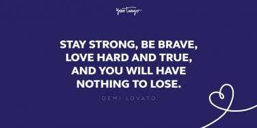 demi lovato fighting quote