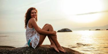 woman finding beauty in life