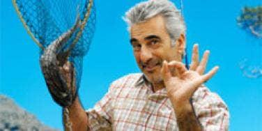man with fishing net