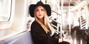 woman on subway