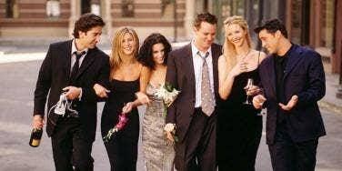friends tv show cast walking together