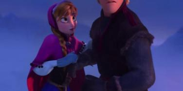 Anna and Kristoff in 'Frozen'
