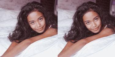 Gemini woman in bed