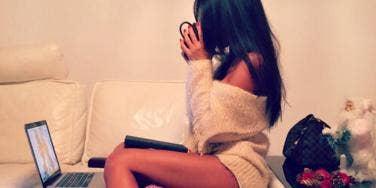 girl on comp