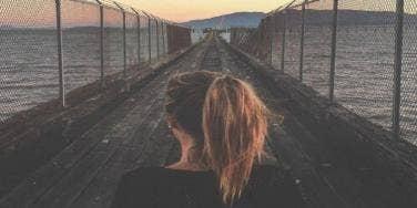 girl on a bridge