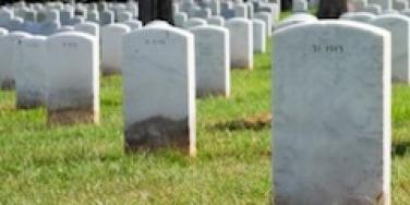 graves in a cemetary