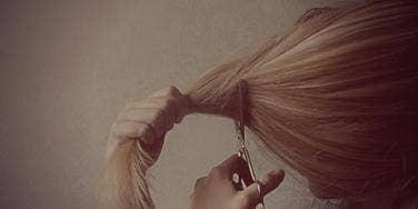 chopping hair