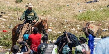 Haitian migrants at the border