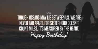 Happy Birthday Wishes for sisters