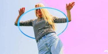 girl hula hooping