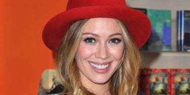 date night: Hilary Duff
