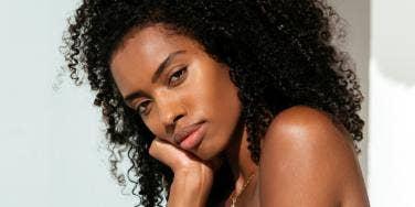 serious black woman
