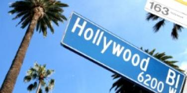 Hollywood Blvd palm trees los angeles L.A.