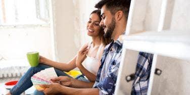 couple making home organization plan