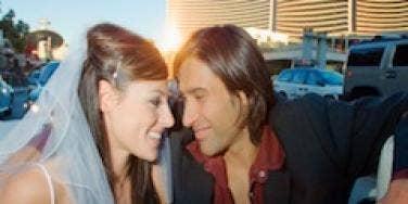 couple on honeymoon vegas