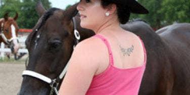 woman tattoo horse