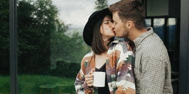 couple kissing love
