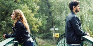 couple facing away