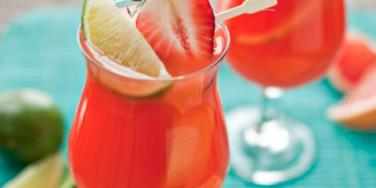Mardi Gras hurricane cocktail
