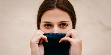 woman with turtleneck