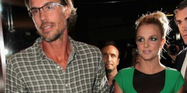 Jason Trawick and Britney Spears holding hands