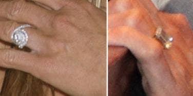 Jennifer Aniston & Angelina Jolie engagement rings