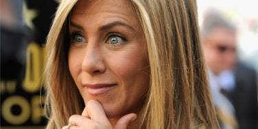 Jennifer Aniston looking shocked