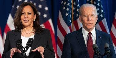 Kamala Harris and Joe Biden
