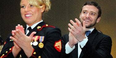 "Justin Timberlake ""Blown Away"" By Marine Ball Date!"