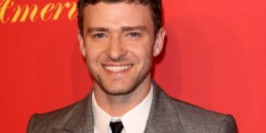 Justin Timberlake smiling for the cameras