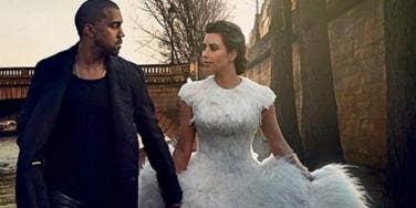 Kanye West Kim Kardashian wedding spread in Vogue