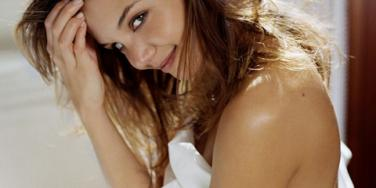 Katie Holmes in bed
