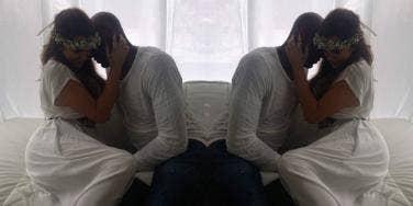 Khloé Kardashian and Lamar Odom on their wedding day