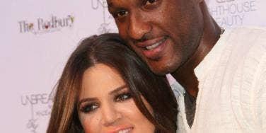 Khloe Kardashian and Lamar Odom up close