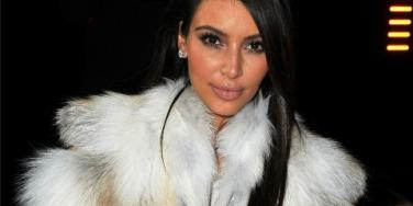 Kim Kardashian fur