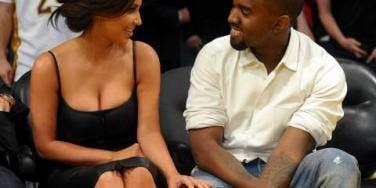 Kim Kardashian and Kanye West Lakers Game
