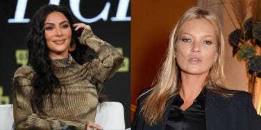 Kate Moss and Kim Kardashian