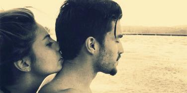couple by ocean