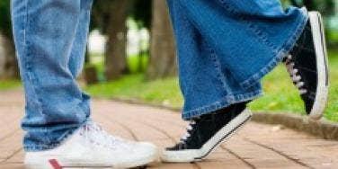 Students Kiss Feet