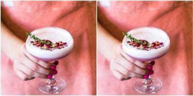 pink mocktail drink