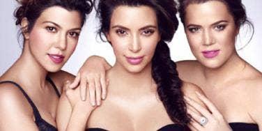 Kourtney Kardashian, Kim Kardashian and Khloe Kardashian promoting their Khroma beauty line